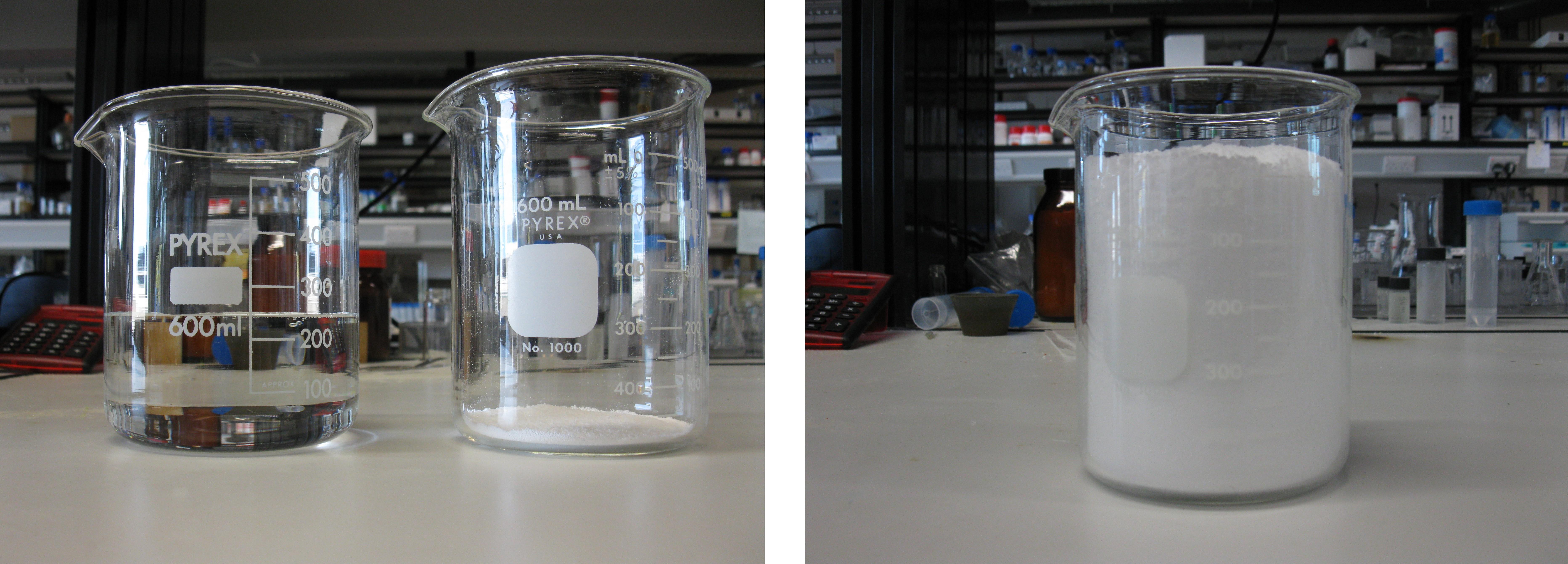 absorption d 39 eau par un polym re superabsorbant la neige artificielle exp rience. Black Bedroom Furniture Sets. Home Design Ideas